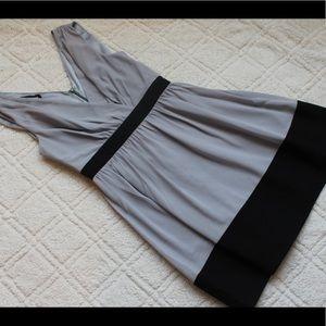💛 Wild Meadow Grey and Black Dress